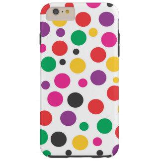Rainbow Bubble Gum polkadot Tough iPhone 6 Plus Case