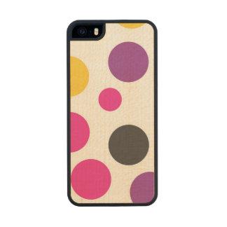 Rainbow Bubble Gum polkadot Wood Phone Case For iPhone SE/5/5s