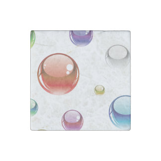 Rainbow Bubble Pattern Stone Magnet