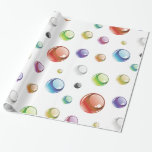 Rainbow Bubble Pattern Wrapping Paper