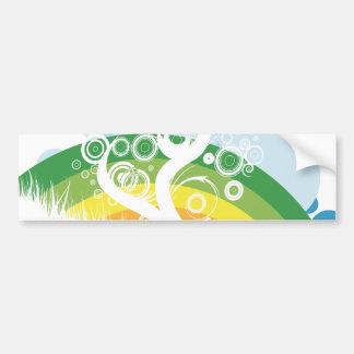 rainbow bubble sky bumper sticker