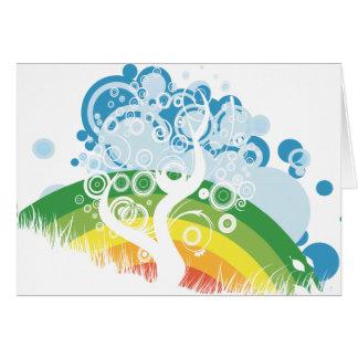 rainbow bubble sky card
