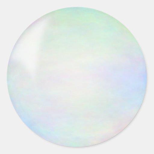 Rainbow bubble sticker