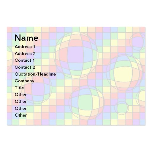 Rainbow Bubbles Business Card