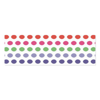 Rainbow Bubbles Pack Of Skinny Business Cards