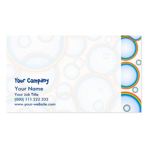 Rainbow bubbles business card templates