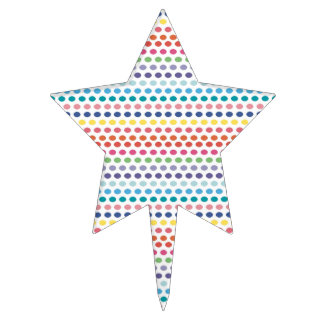 Rainbow Bubbles Cake Toppers