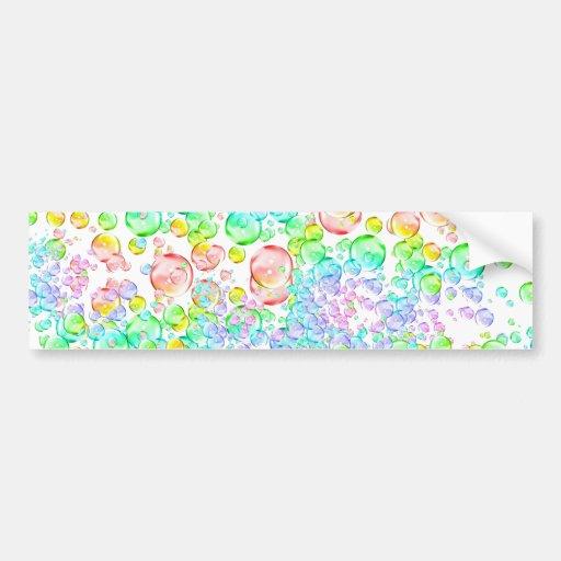 Rainbow Bubbles Car Bumper Sticker