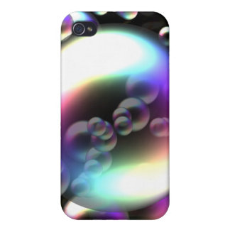 Rainbow Bubbles Case For iPhone 4