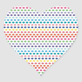 Rainbow Bubbles Heart Sticker