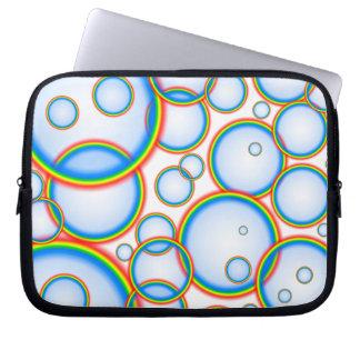 Rainbow bubbles computer sleeve