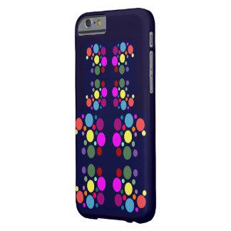 Rainbow Bubbles on Navy iPhone S6 Case