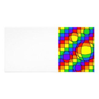 Rainbow Bubbles Photo Card