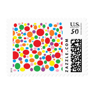 Rainbow Bubbles Postage Stamps