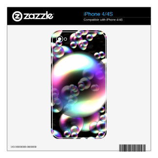 Rainbow Bubbles iPhone 4 Decal