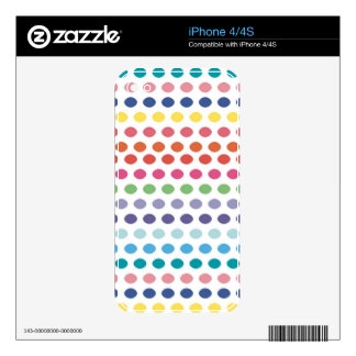 Rainbow Bubbles iPhone 4 Decals