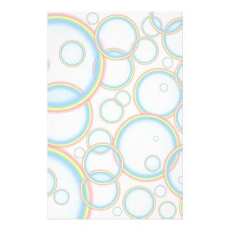 Rainbow bubbles stationery