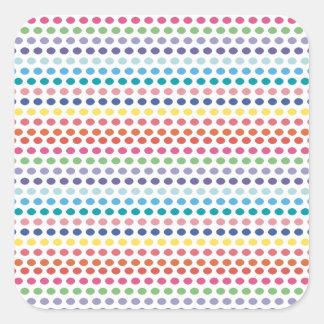 Rainbow Bubbles Square Sticker