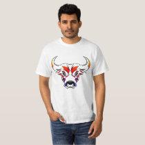 Rainbow Bull, Value T-Shirt, White T-Shirt