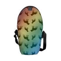 Rainbow bulldog pattern courier bag