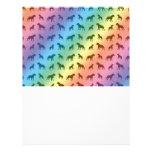 Rainbow bulldog pattern custom flyer