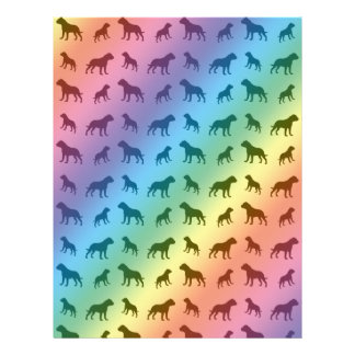 Rainbow bulldog pattern letterhead