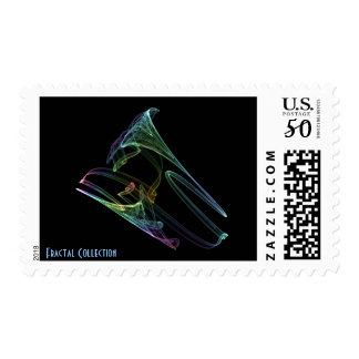Rainbow Bullet Fractal Postage Stamp
