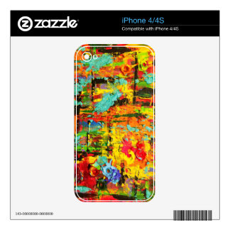 Rainbow Bullets Decal For iPhone 4