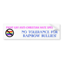 RAINBOW BULLIES BUMPER STICKER