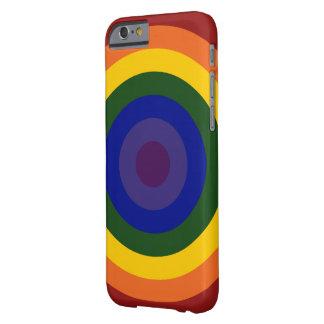 Rainbow Bullseye Barely There iPhone 6 Case