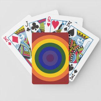 Rainbow Bullseye Bicycle Playing Cards