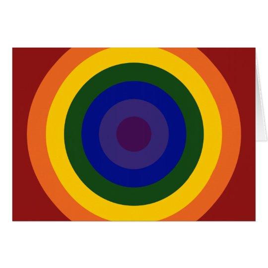 Rainbow Bullseye Birthday Card