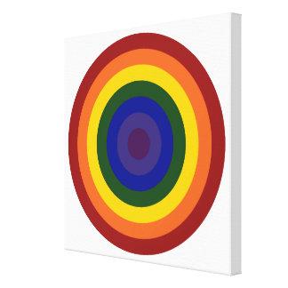 Rainbow Bullseye Canvas Prints