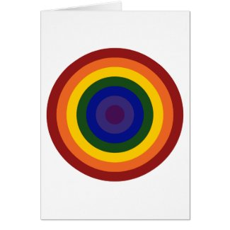 Rainbow Bullseye Card