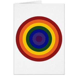 Rainbow Bullseye Greeting Card