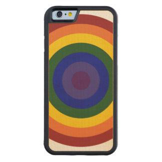 Rainbow Bullseye Carved® Maple iPhone 6 Bumper Case