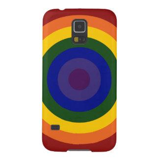 Rainbow Bullseye Galaxy S5 Cases