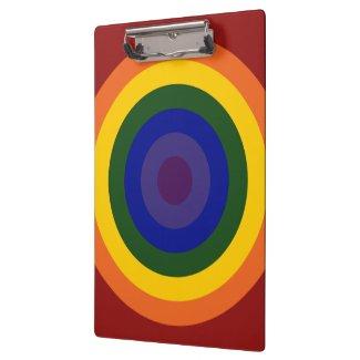 Rainbow Bullseye Clipboards