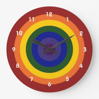 Rainbow Bullseye Clock