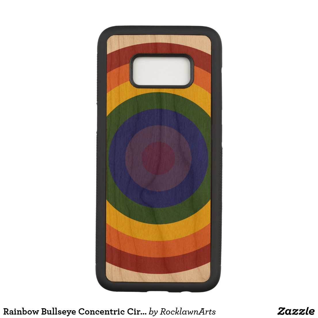 Rainbow Bullseye Concentric Circles Carved Samsung Galaxy S8 Case