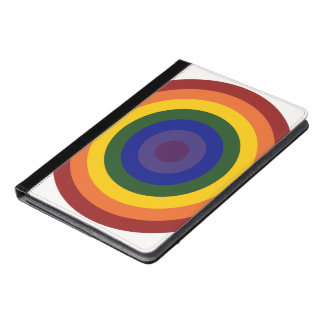 Rainbow Bullseye Geometric Pattern iPad Air Case
