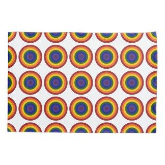 Rainbow Bullseye Geometric Pattern Pillow Case