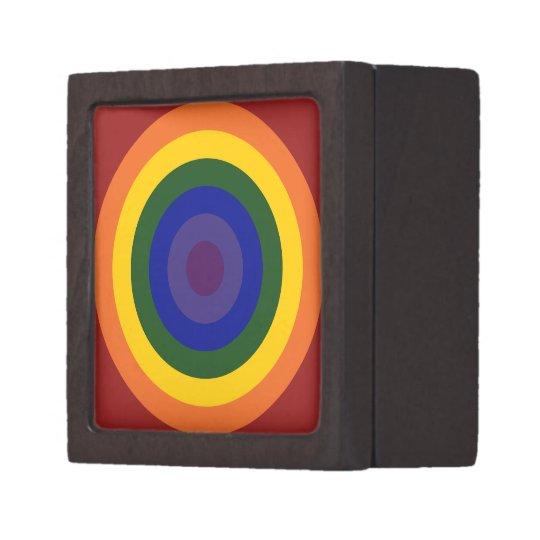 Rainbow Bullseye Gift Box