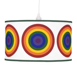 Rainbow Bullseye Hanging Lamp