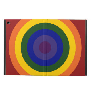 Rainbow Bullseye iPad Air Case