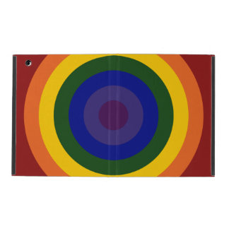 Rainbow Bullseye iPad Case