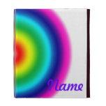 Rainbow Bullseye iPad Case With Name