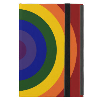 Rainbow Bullseye iPad Mini Case