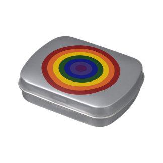 Rainbow Bullseye Jelly Belly Candy Tins