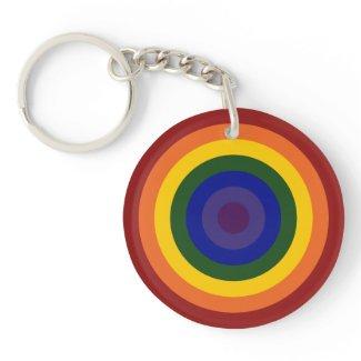 Rainbow Bullseye keychain Acrylic Key Chain